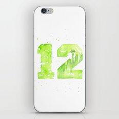12th Man Seattle Art iPhone & iPod Skin
