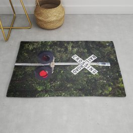 Railroad Crossing Warning Signal Rug