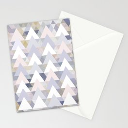 Pastel Graphic Winter Peaks on Geometry #abstractart Stationery Cards