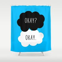 fault in our stars Shower Curtains featuring Okay? Okay. The Fault in Our Stars  by Janice Wong