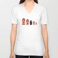 sheep V-neck T-shirts featuring The Black Sheep by Fabian Gonzalez