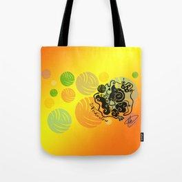 Rainbow Yarn Logo (Fiery Bg) Tote Bag
