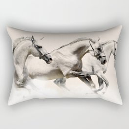horses prancing in the clouds Rectangular Pillow