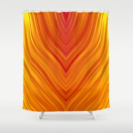 stripes wave pattern 3 eei Shower Curtain