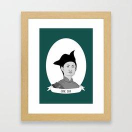 Ching Shih Illustrated Portrait Framed Art Print