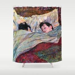 """Henri de Toulouse-Lautrec """"The Bed"""" Shower Curtain"""