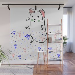 A hamster in a meadow Wall Mural