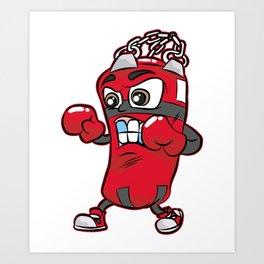 PUNCHING BAG GUY Boxing Boxer Cartoon Comic Gift Art Print