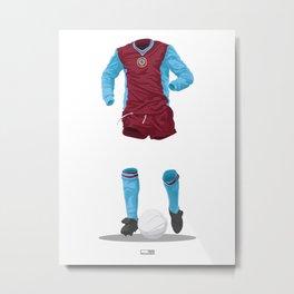 Aston Villa 1981/82 - European Cup Winners  Metal Print