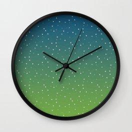 Constellations (Green) Wall Clock