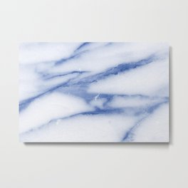 Blue Skies Marble Metal Print