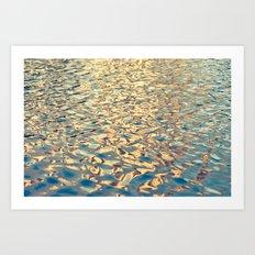 Golden Waters Art Print