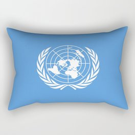 Flag on United nations -Un,World,peace,Unesco,Unicef,human rights,sky,blue,pacific,people,state,onu Rectangular Pillow