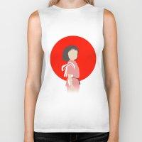 chihiro Biker Tanks featuring Chihiro by adovemore