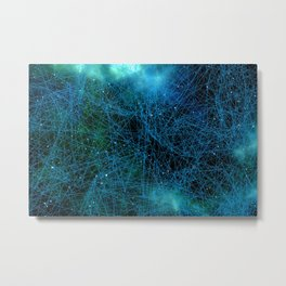 System Network Connection Metal Print