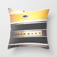 truck Throw Pillows featuring Old truck by Julia Goss Photography