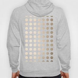 Simply Polka Dots in White Gold Sands Hoody