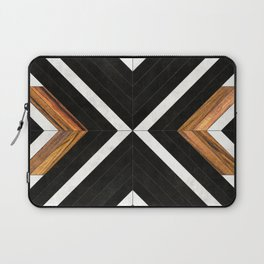 Urban Tribal Pattern 1 - Concrete and Wood Laptop Sleeve