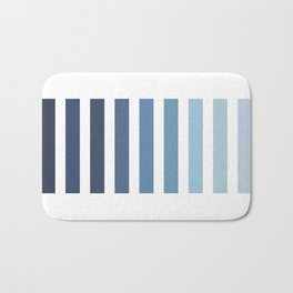 Sky and Water Blue Palette Bath Mat