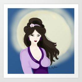 Chang'e: Goddess of the Moon Art Print