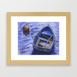 Buoy and Boat Framed Art Print