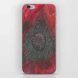 Heart of the Poppy by Candy Medusa iPhone Skin