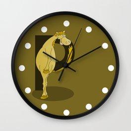 Pony Monogram Letter P Wall Clock