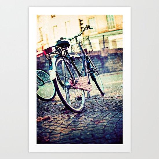 Vintage Bike Art Print