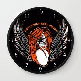 Day of dead sexy girl dark angel  Wall Clock