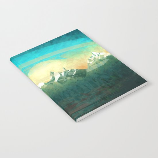 Mountains abowe the blue sky Notebook