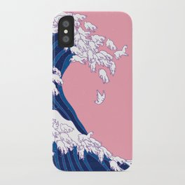 Llama Waves in Pink iPhone Case