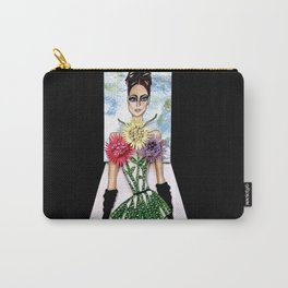 FLORA CATWALK COUTURE ILLUSTRATION BY JAMES THOMAS RYAN Carry-All Pouch