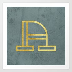 Letter A Day Project - A  Art Print