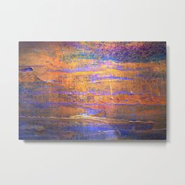 Abstract Oil 4 Metal Print