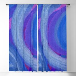 Blue Rings Blackout Curtain