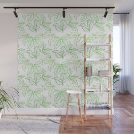 Holly Sprigs (White Glow) - Forest Wall Mural