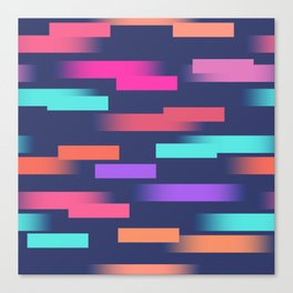 Abstract colorful sripes Canvas Print