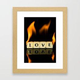 Burning love Framed Art Print