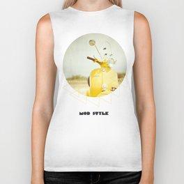 Mod Style in Yellow Biker Tank