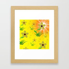 flower,abstract pattern in metal Framed Art Print