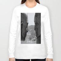 washington Long Sleeve T-shirts featuring Washington & Guyasuta by Biff Rendar