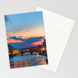 Beautiful city in Italy at sunset time Stationery Cards