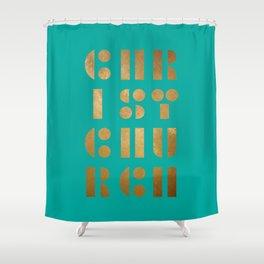 Christchurch Stick & Ball Green Shower Curtain