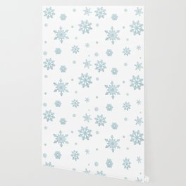 Glitter Snowflakes Wallpaper