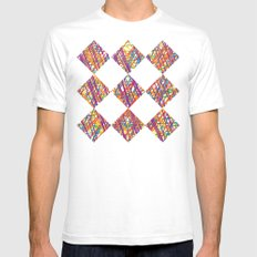 Scribble Crazy Mens Fitted Tee SMALL White