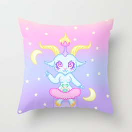 Kawaii Fairy Kei Baphomet Throw Pillow