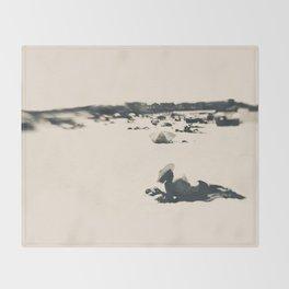 beach nostalgia Throw Blanket
