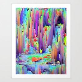 Pixel Sorting 43 Art Print