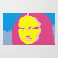 mona lisa Area & Throw Rugs featuring Mona Lisa by Becky Rosen