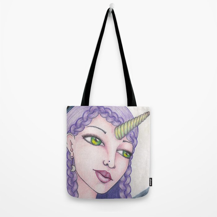 Lunar Unicorn Tote Bag
